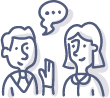 Équipe de la MDJ de PAT - dessin discussion